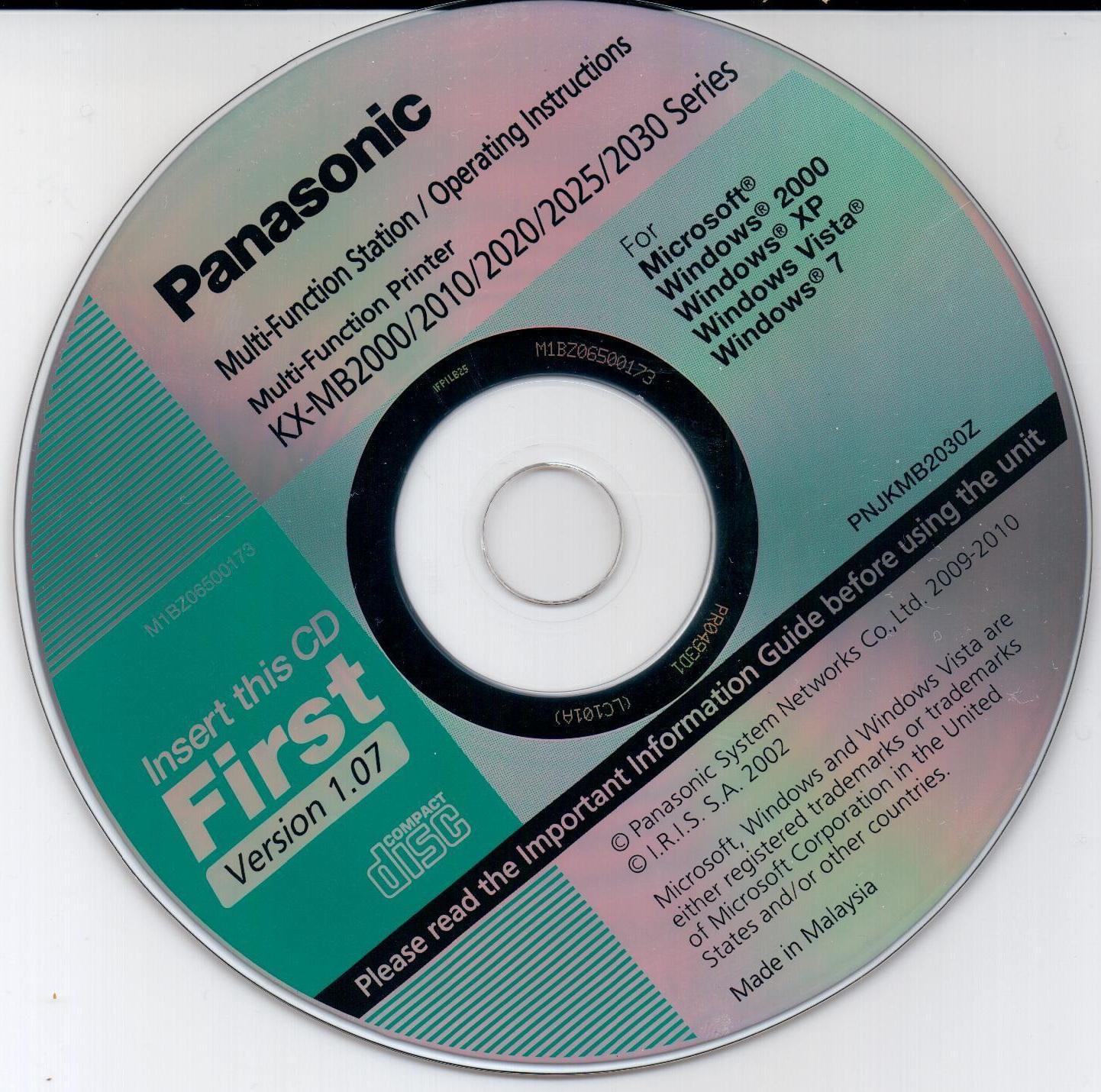 Образ диска Panasonic KX-MB2000