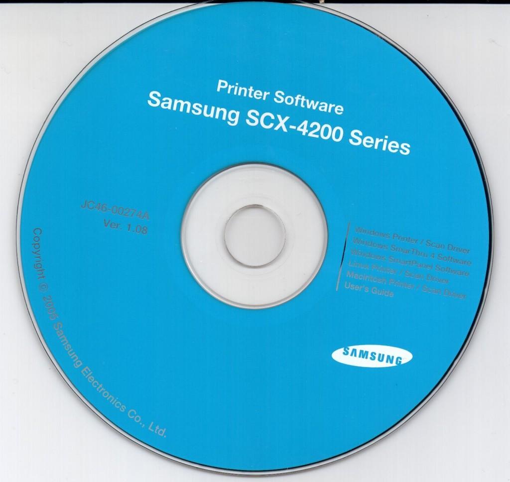Образ диска samsung scx 4200 series