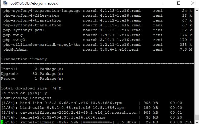 Исправить ошибку rpmdb: Thread died in Berkeley DB library